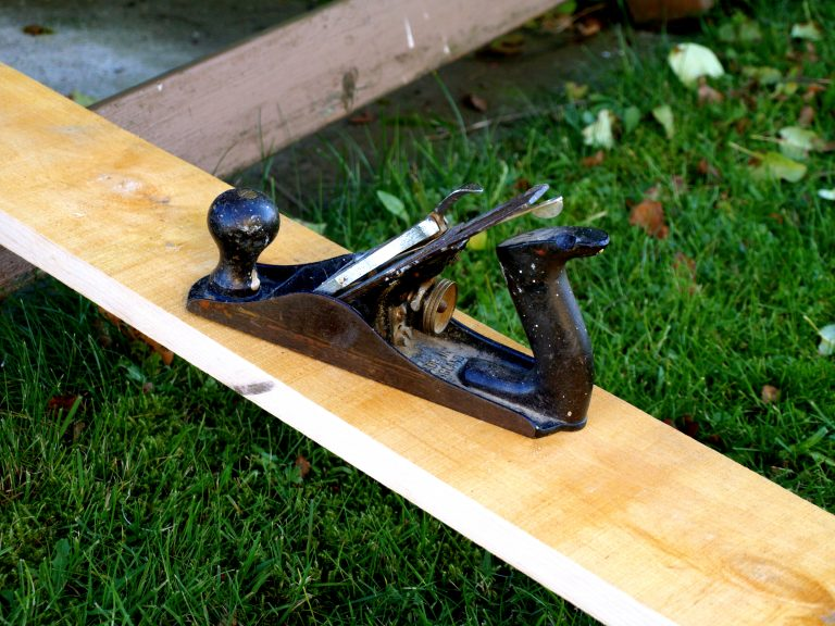 Hand Planes for Woodworking on slab of wood