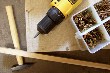 woodworking tools used in constructing a wood project - how to build a cabinet