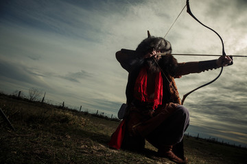 Traditional Male Archer - how to make a recurve bow