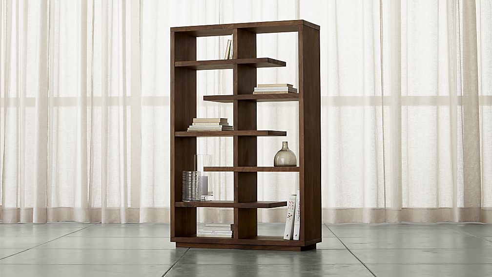 Elevate Walnut Bookcase