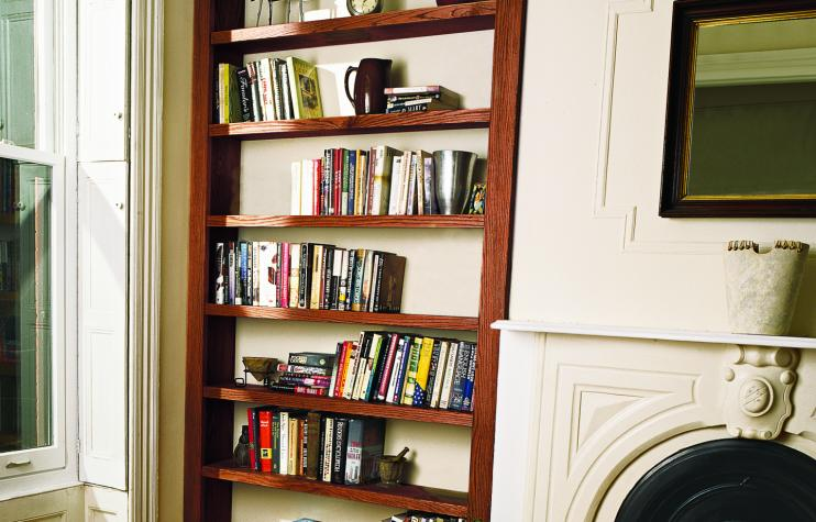 Old House Built-In Bookcase