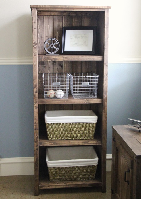 Ana-white Rustic Wood Bookshelf