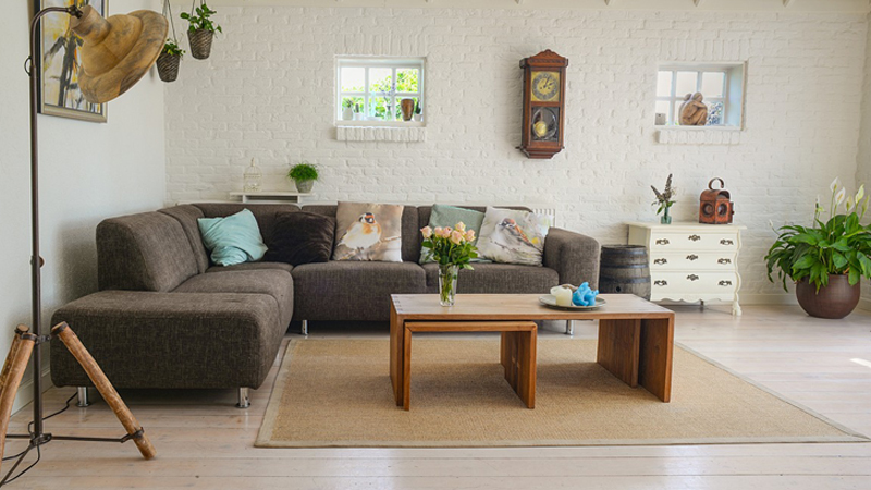 living-room with tea table