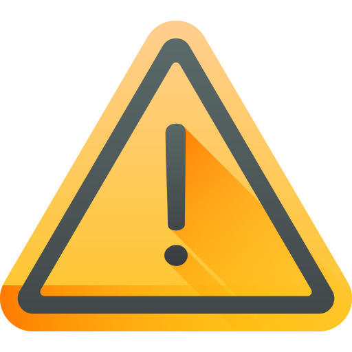 flat icon of a caution signage