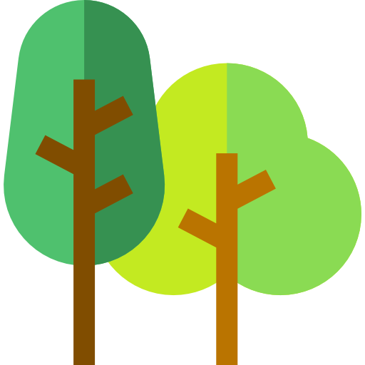flat icon of trees