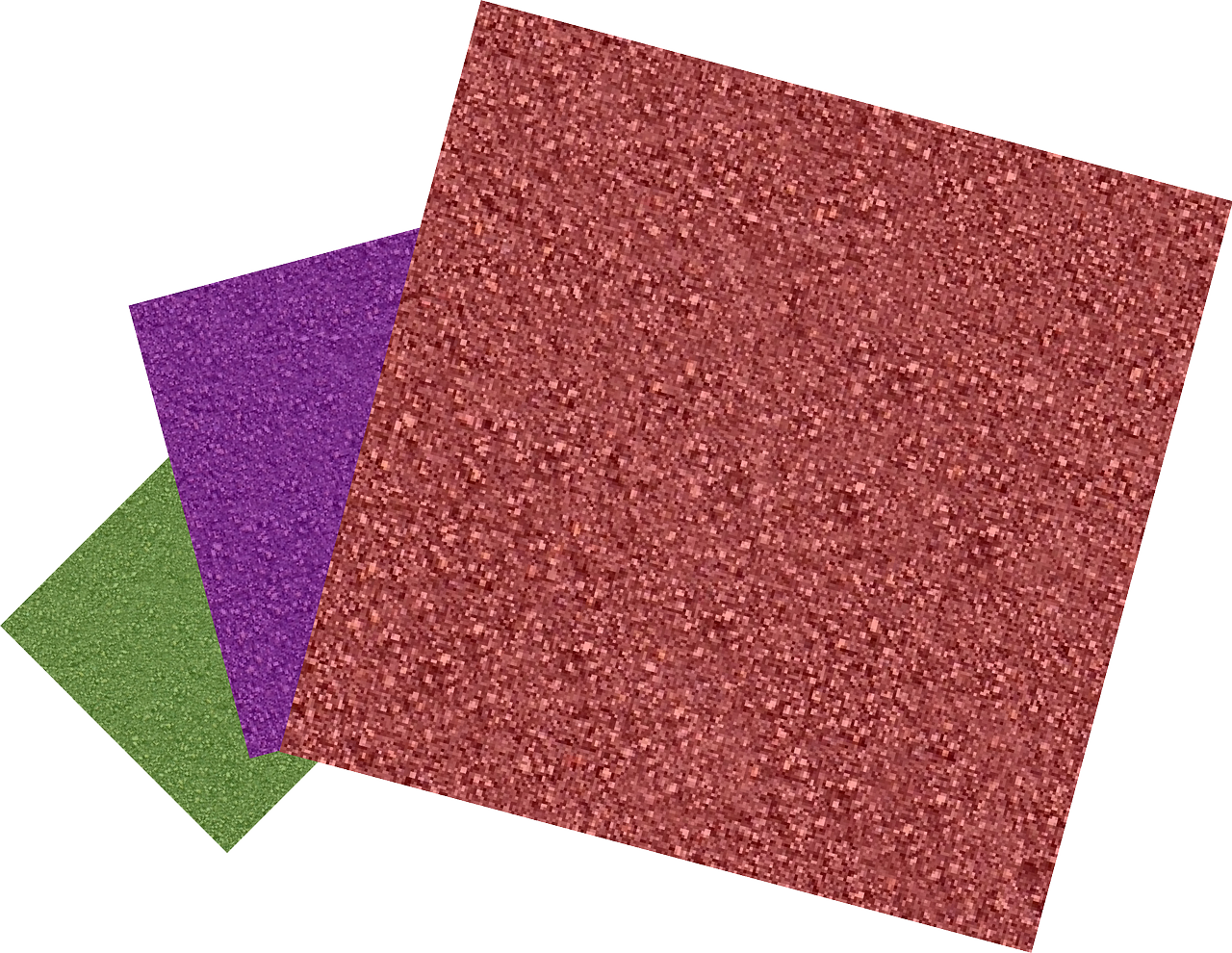 sandpaper in three colors