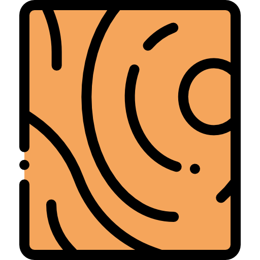 flat icon of a wood